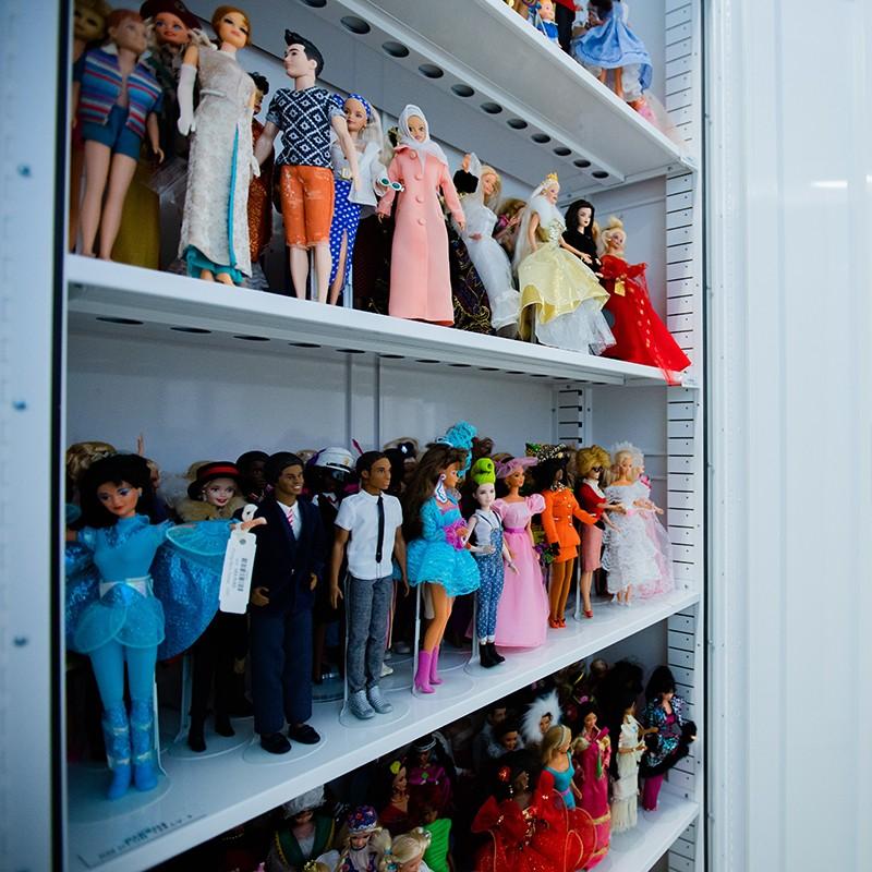 Dolls in collections storage