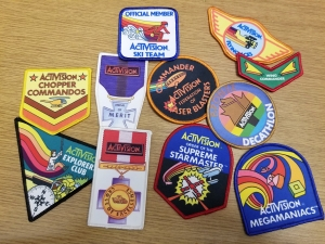 Collection of Activision high score patches, 1980s. The Strong, Rochester, New York
