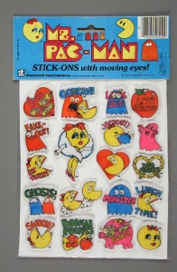Ms. Pac-Man Stickers, 1985, The Strong, Rochester, New York.