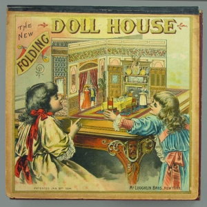 The New Folding Dollhouse, ca. 1900, McLoughlin Bros., courtesy of The Strong, Rochester, NY