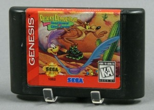 Sega Genesis' 1995 console game Desert Demolition Starring Roadrunner and Wile E. Coyote; The Strong, Rochester, New York