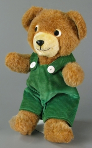 Corduroy plush toy, about 1990, gift of Carolyn Vang Schuler. The Strong, Rochester, New York.