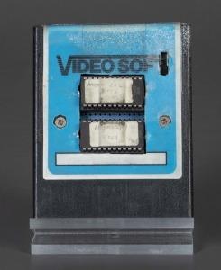 Atom Smasher Atari 2600 prototype cartridge, 1983, The Strong, Rochester, NY.