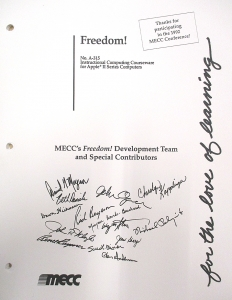 Cover page for MECC's 1992 game 'Freedom!'