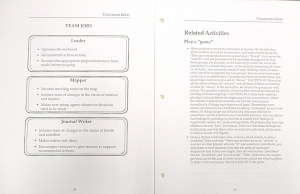 """'Freedom!' Teacher's manual with suggested roleplay activity to """"re-enact the institution of slavery""""."""