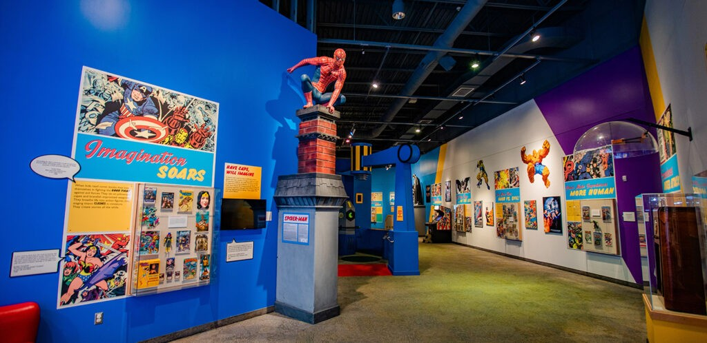 Comic book hero exhibit