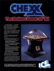 Chexx arcade game flier, 1983, The Strong, Rochester, New York.