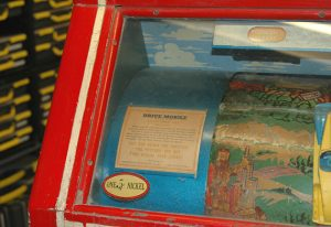 Drive-Mobile arcade game (front label detail), 1941, The Strong, Rochester, New York