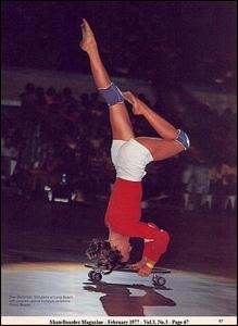 Ellen Berryman, SkateBoarder Magazine, February 1977, Courtesy of Creative Commons Attribution