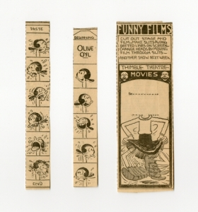 Funny Films Thimble Theatre Movies: Olive Oyl, about 1930. The Strong, Rochester, New York.