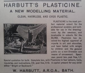 Harbutt Plasticine Advertisement, The Butterfly magazine, March 1899, Fair Use