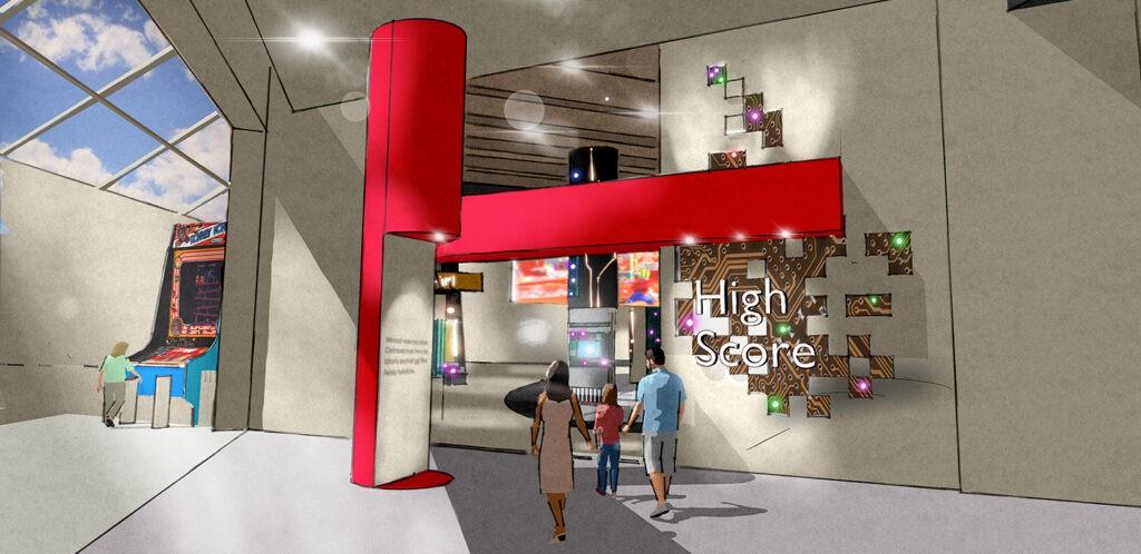 High Score exhibit rendering