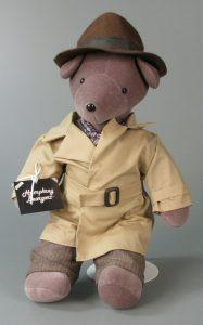 Humphrey Beargart teddy bear, North American Bear Co., Inc., 1983, gift of Sandra Shutt, courtesy of The Strong, Rochester, New York.