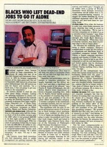"""""""Blacks Who Left Dead-End Jobs to Go It Alone,"""" BusinessWeek, February 20, 1984, The Strong, Rochester, NY."""