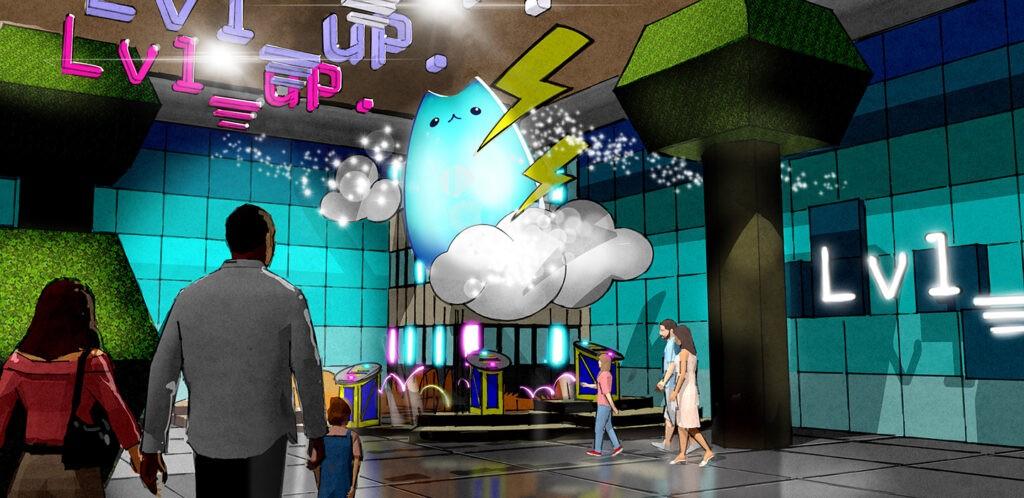 Level up exhibit rendering