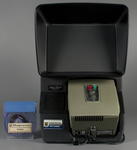 Magnavox Mini Theater and Odyssey demonstration film cartridge, about 1972. The Strong, Rochester, New York.