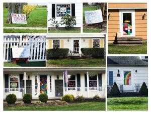 Neighborhood window and door art, photo courtesy of the author.