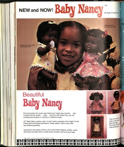 New and Now! Baby Nancy Advertisement, Playthings Magazine, March 1969, The Strong, Rochester, New York.
