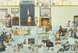 Paper Doll House, ca. 1870, courtesy of The Strong, Rochester, NY