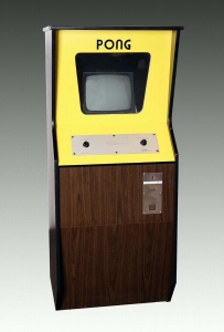 Pong arcade game, 1972. The Strong, Rochester, New York.