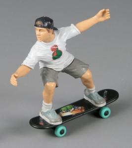 Pullbax Skateboarder, action figure, ca. 1995.