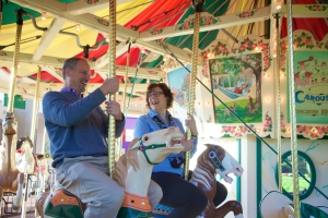 Riding the carousel, The Strong, Rochester, New York