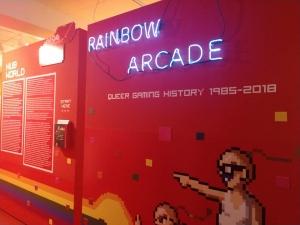 Rainbow Arcade exhibit opening (December 2018). Photo courtesy of Adrienne Shaw.