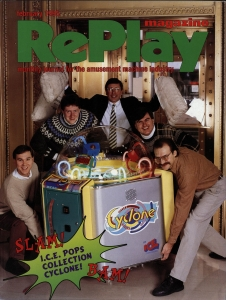 RePlay magazine cover, February 1995, The Strong, Rochester, New York.
