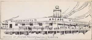 Seaside Heights Arcade Sketch, no date, Series I L.B.D. Amusement Co., Inc. papers, Brian Sutton-Smith Library and Archives of Play, The Strong, Rochester, New York