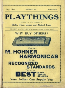 The cover of the first issue of Playthings magazine, January 1903.