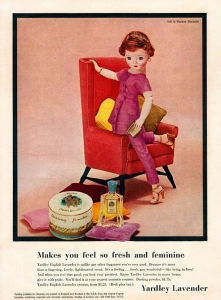 Yardley Advertisement, about 1956. Courtesy of Creative Commons.