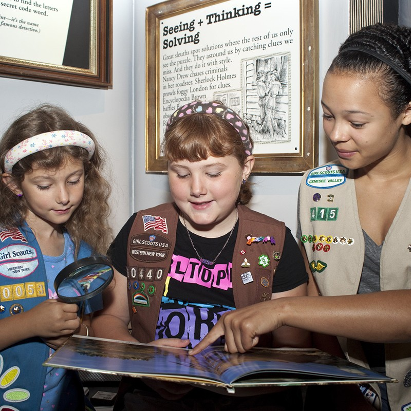 Girl scouts in Reading Adventureland