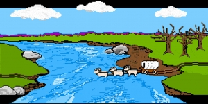 Screen shot from The Oregon Trail, MECC, 1990, The Strong, Rochester, New York.