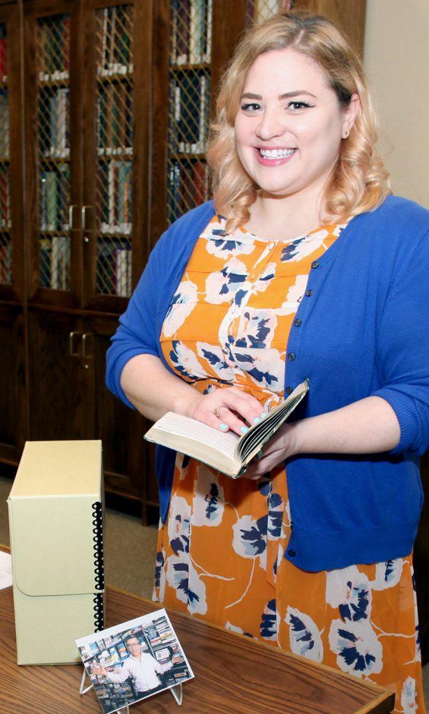 Julia Novakovic in research library