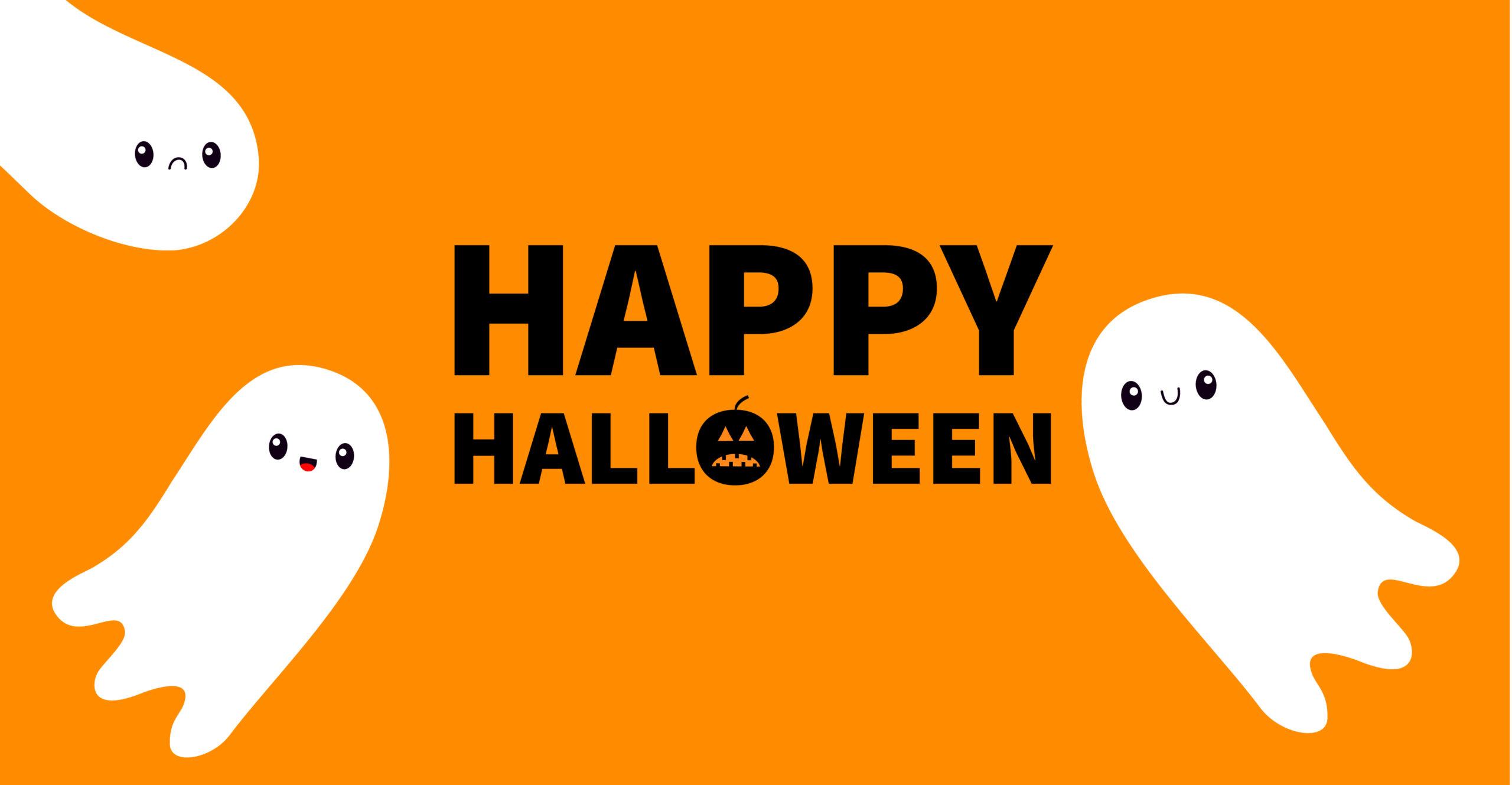 Happy Halloween ghosts graphics