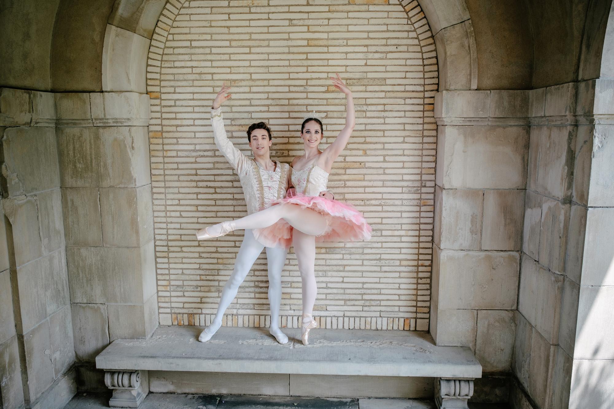 Nutcracker dancers pose